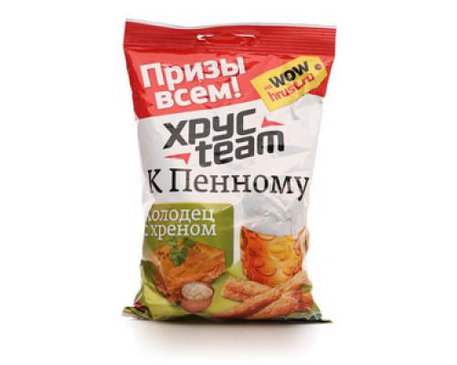 Сухарики со вкусом холодца с хреном к Пенному ТМ Хрус Team (Хрус Тим)