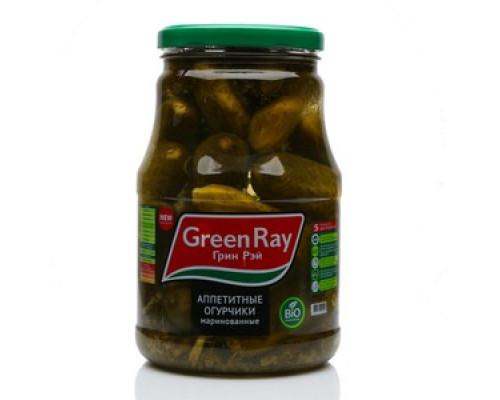 Огурцы Аппетитные маринованные ТМ Green Ray (Грин рей)