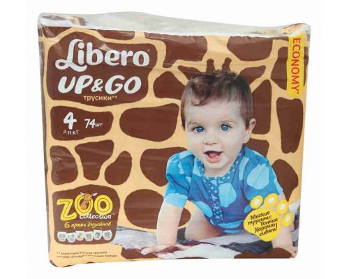 Трусики Libero Up&&Go Maxi 7-11кг 74шт