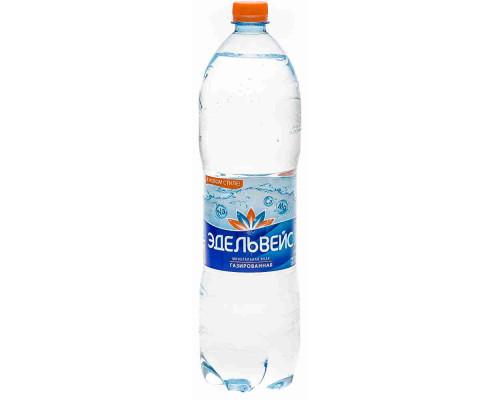 Вода минеральная Эдельвейс газ леч/стол 1.5л пэт