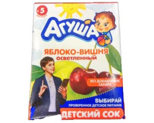 Сок Агуша, яблоко-вишня, 0,2 л