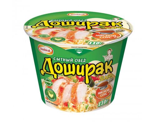 Лапша ТМ Doshirak (Доширак) Сытный обед со вкусом курицы быстрого приготовления, 110 г