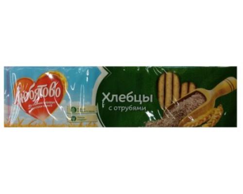 Хлебцы ТМ Любятово, с отрубями, 185 г