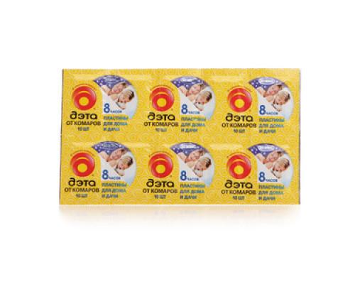 Пластины от комаров ТМ Дэта, 10 шт