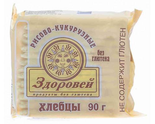 Хлебцы Здоровей рис/кукуруза б/глютена 90г