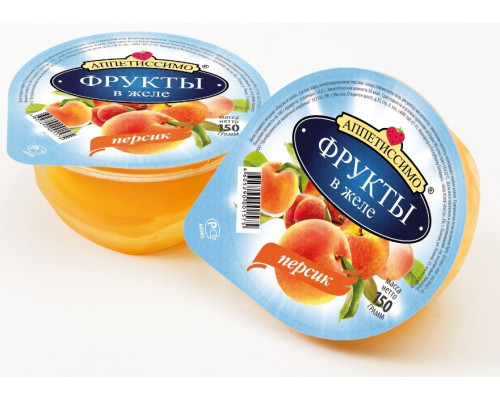 Персик ТМ Аппетиссимо, в желе, 150 г