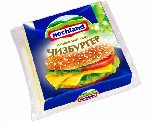 Сыр плавленый Hochland Чизбургер ломтик 150г