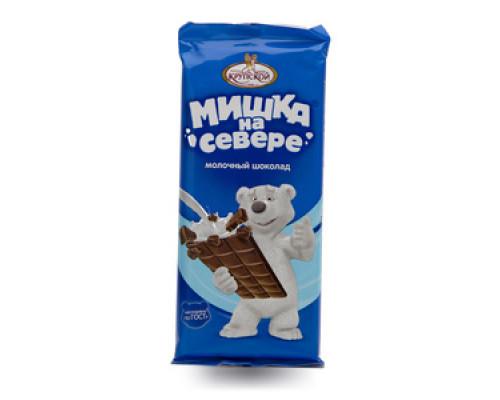 Шоколад молочный с тонкоизмельченными добавлениями Мишка на севере ТМ Фабрика имени Крупской