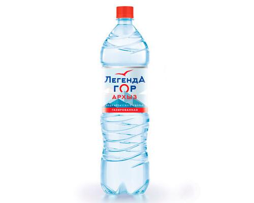 Вода Архыз Легенда Гор, газированная 1,5 л