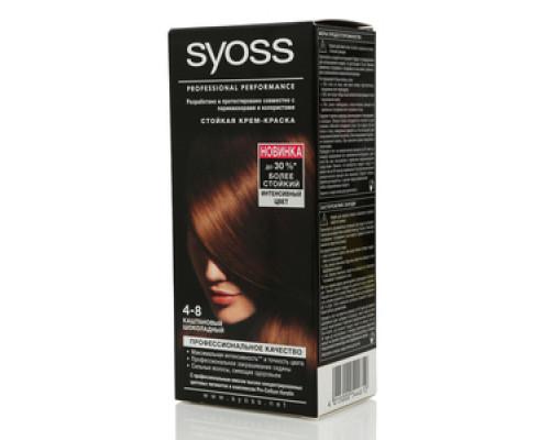 Стойкая крем-краска 4-8 каштановый шоколадный ТМ Syoss (Сьес)