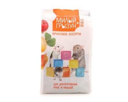 Ассорти фруктовое для декоративных крыс и мышей ТМ Милый грызун