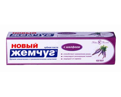 Зубная паста Новый Жемчуг с шалфеем 100мл