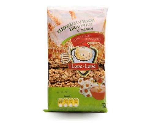 Пшеничные  палочки с медом 6*12 гр ТМ «Lope-Lope(Лоп-Лоп)