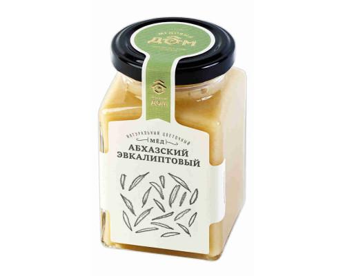 Мёд натуральный Медовый дом Абхазский эвкалиптовый цветочный 320г ст/б