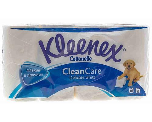Туалетная бумага Kleenex Veltie белая 8рул