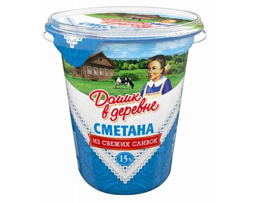 СМЕТАНА ДОМИК В ДЕРЕВНЕ, 15% 330 г
