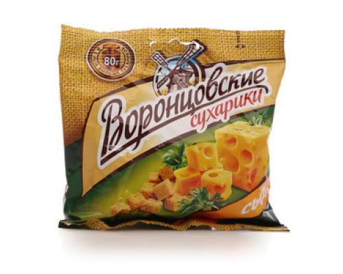 Сухарики со вкусом сыра ТМ Воронцовские