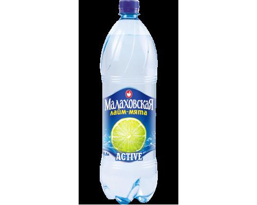 Вода ТМ Малаховская Active лайм-мята, 1,5 л
