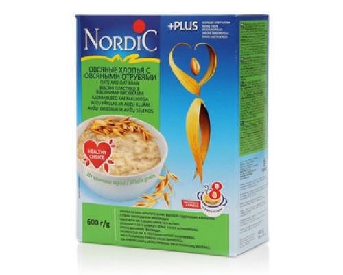Хлопья овсяные с овсяными отрубями ТМ Nordic (Нордик)