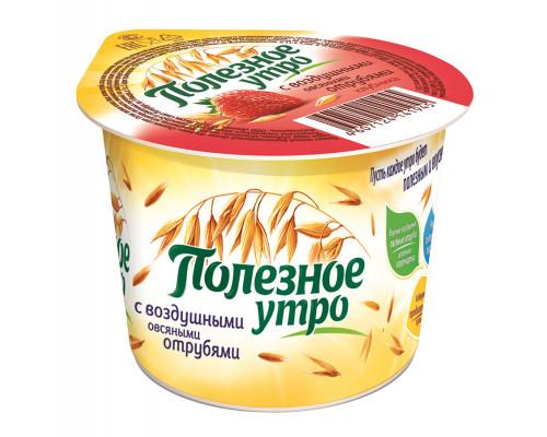 Продукт овсяный ТМ Полезное утро, клубника, 120 г