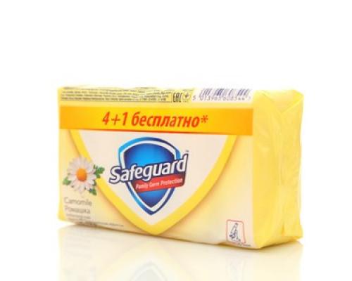Мыло туалетное Ромашка ТМ Safguard (Сэйвгард) 5*75г