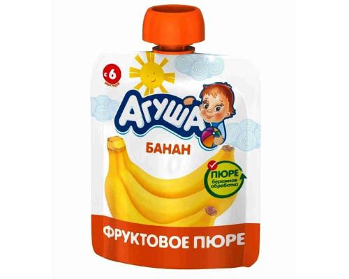 'Пюре фруктовое ''Агуша''  Банан  90 г пауч-пак с 6 мес'