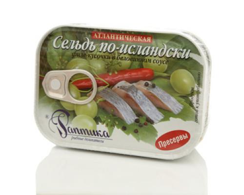 Филе кусочки сельди в беловинном соусе 2*115г ТМ Раптика