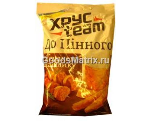 Сухарики ТМ Хрус Team (Хрус Тим),со вкусом шашлыка), 90 г
