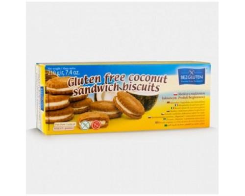 Печенье Сэндвич с кокосовой начинкой без глютена ТМ Bezgluten (Безглютен)