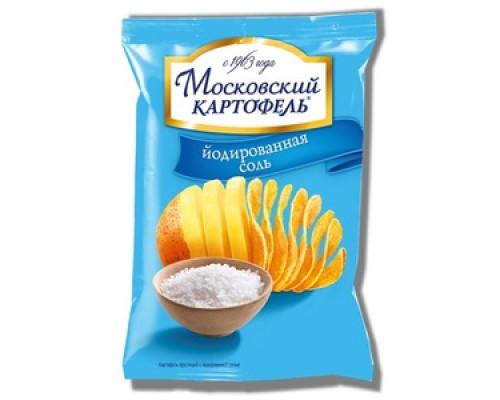 Чипсы ТМ Московский Картофель, картофельные с йодированной солью 70 г