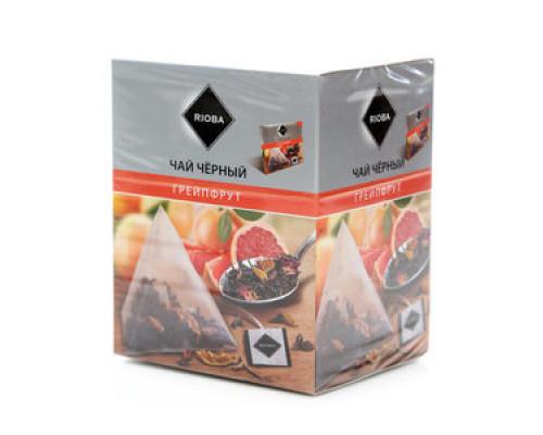 Чай черный ТМ Rioba (Риоба), Грейпфрут, в пирамидках, 20х2 г