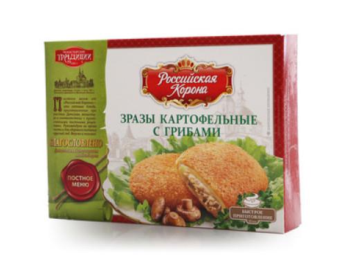Зразы картофельные с грибами ТМ Российская корона