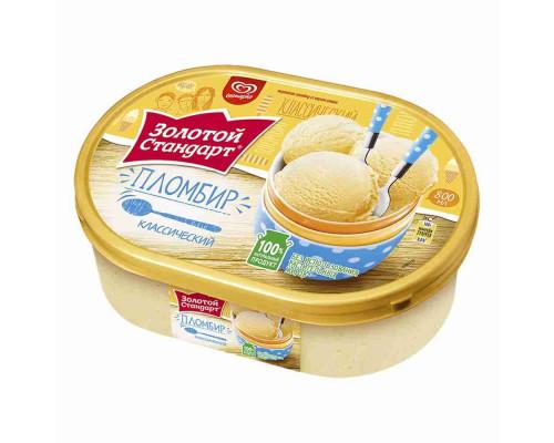 Мороженое пломбир Золотой Стандарт 475г ванна
