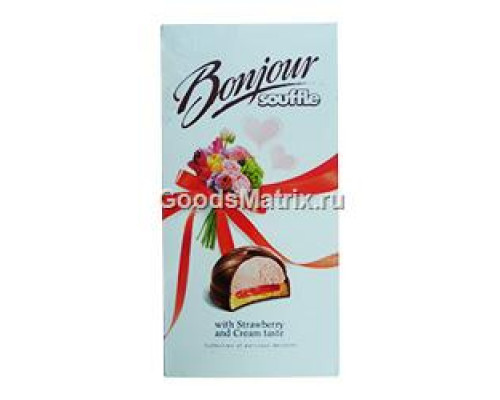 Суфле ТМ Bonjour (Бонжур) Souffle клубника со сливками, 232 г