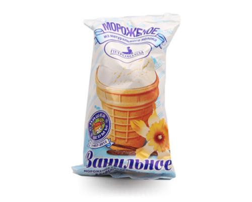Мороженое ванильное в вафельном стаканчике ТМ Петрохолод