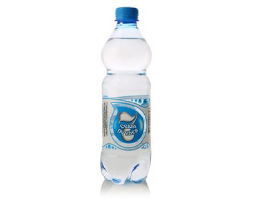 Вода минеральная артезианская газированная ТМ Семь ручьев