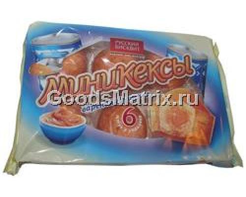 Мини-кексы ТМ Русский бисквит с начинкой Вареная сгущенка, 6 шт., 200 г