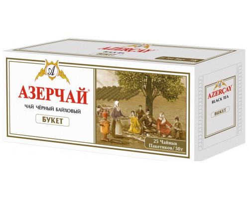 Чай черный ТМ Азерчай Букет, байховый, 25х2г