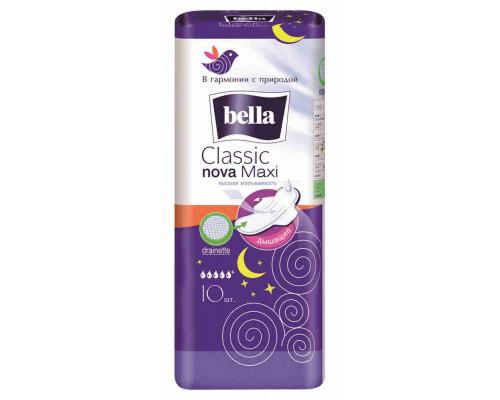 Прокладки ежедневные Bella Classic Nova Maxi drainette air 10шт