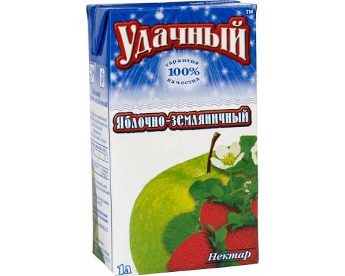Нектар Яблочно-земляничный ТМ Удачный, 1 л