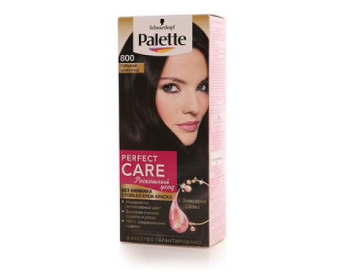 Стойкая крем-краска для волос 'Perfect Care' 800 горький шоколад ТМ Palette (Палет)