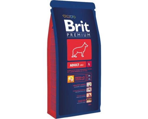 Корм для взрослых собак крупных пород Brit Premium Adult L, 15 кг