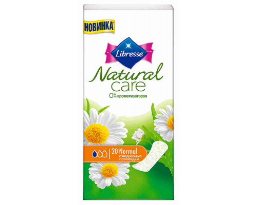Прокладки ежедневные Libresse Natural Care Normal 20шт