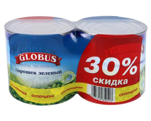 Горошек зеленый ТМ Globus (Глобус), 2х425 мл