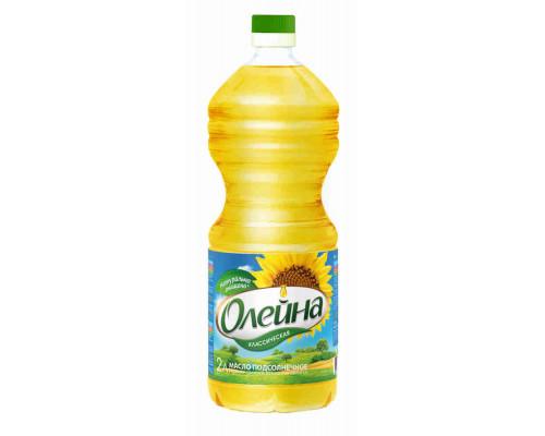 Масло подсолнечное Олейна Классическая рафинированное дезодорированное 2л