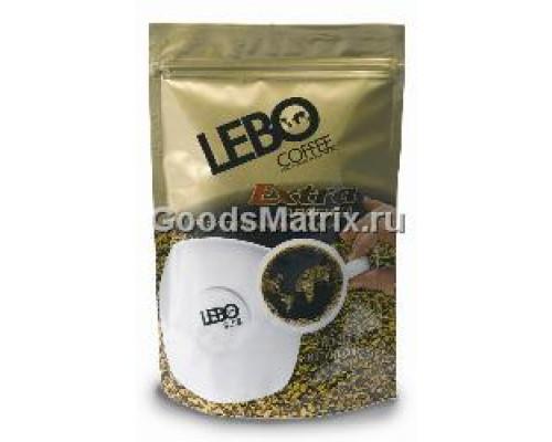Кофе ТМ Lebo (Лебо) Extra, растворимый, сублимированный, 100 г