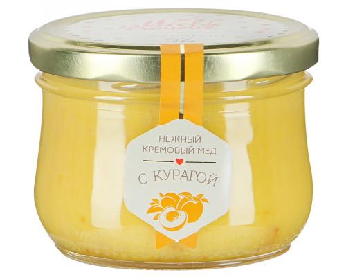 Крем-мёд Miel de lamour цветочный с курагой, 250 г