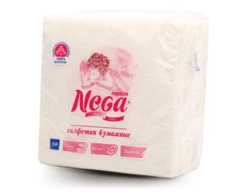 Салфетки бумажные 50шт ТМ Nega (Нега)