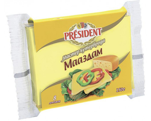 Сыр плавленый ТМ President (Президент) Маасдам, 150 г