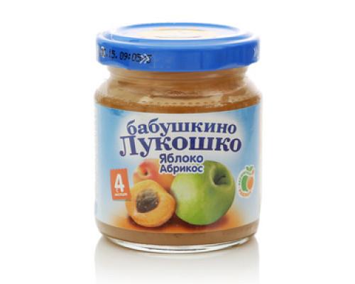 Пюре из яблок и абрикосов ТМ Бабушкино лукошко